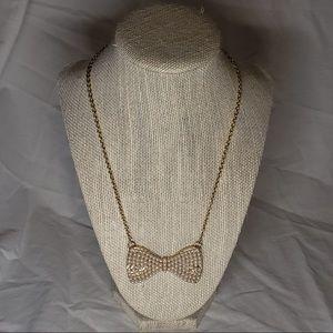 Pearl Bow Necklace Bethany Mota Aeropostale